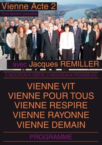 Vienne Acte 2 VIENNE VIT VIENNE POUR TOUS VIENNE RESPIRE ...