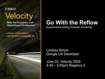 Go with the Reflow Presentation - cdn.oreilly.com