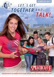 Schülerspracheisen 2013 / 2014 Kursprogramm speziell für Schüler