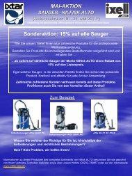 MAI-AKTION - SAUGER - NILFISK ALTO - Ixell.com