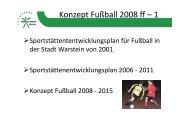 Konzept Fußball 2008 ff – 1 - Sport in Warstein