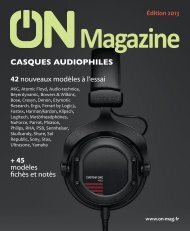 ON Magazine - Guide casques audiophiles 2013