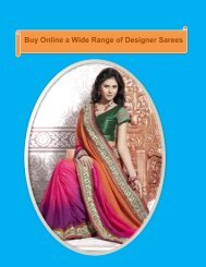 Buy Online a Wide Range of Designer Sarees