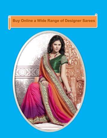 Buy Online a Wide Range of Designer Sarees