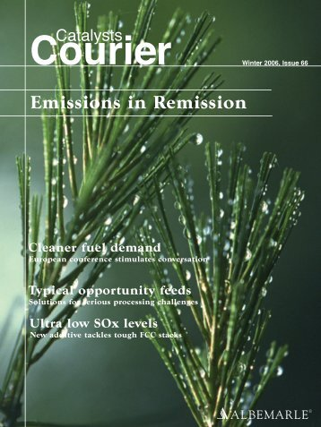 Emissions in Remission - Albemarle Corporation