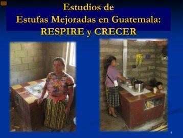 Estudios de Estufas Mejoradas en Guatemala: RESPIRE y CRECER