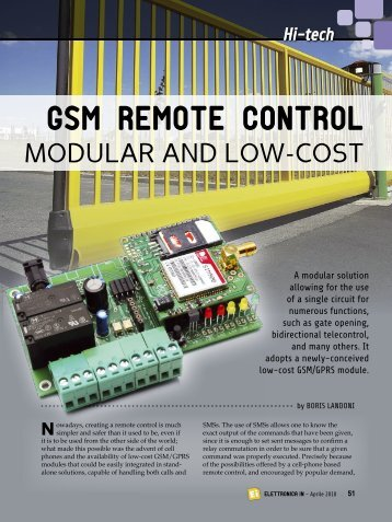 GSM REMOTE CONTROL - ElettronicaIn