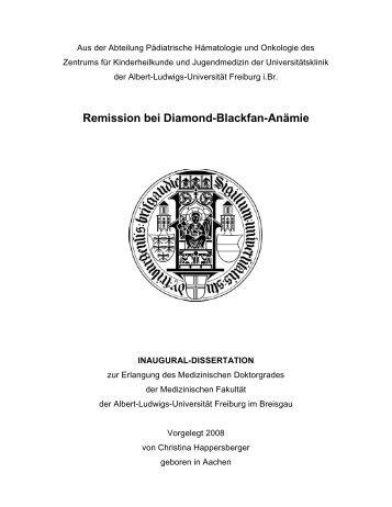 Remission bei Diamond-Blackfan-Anämie - FreiDok - Albert ...