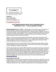 respire by hyatt hypo-allergenic rooms - Hyatt Hotels and Resorts