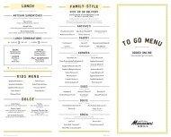 To Go - Romano's Macaroni Grill