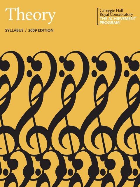 Theory Syllabus - The Music Development Program
