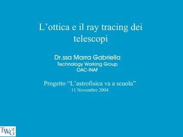 L'ottica e il ray tracing dei telescopi - Inaf