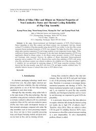 Effects of Silica Filler and Diluent on Material Properties of ... - KAIST