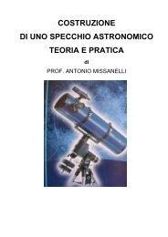 costruzione di uno specchio astronomico teoria e pratica
