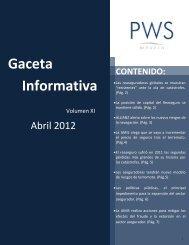 Gaceta Informativa - PWS México Intermediario de Reaseguro, SA ...