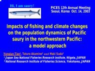 Impacts of fishing and climate changes on the population dynamics ...