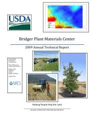 2009 Annual Technical Report - Plant Materials Program - US ...