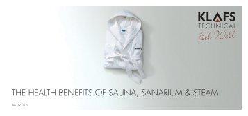 THE HEALTH BENEFITS OF SAUNA, SANARIUM & STEAM - Klafs UK
