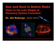 Gas and Dust in Debris Disks - NASA