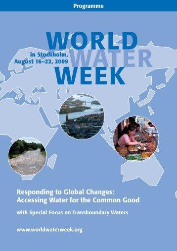 2009 Programme - World Water Week