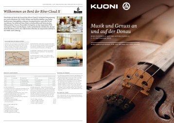 Musik und Genuss an und auf der Donau - Reise-Forum Meilen AG
