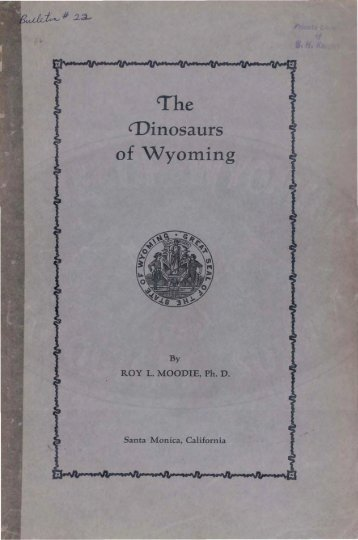 The Dinosaurs of Wyoming - Wyoming State Geological Survey ...