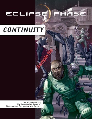 Continuity :: Eclipse Phase - RPGNow