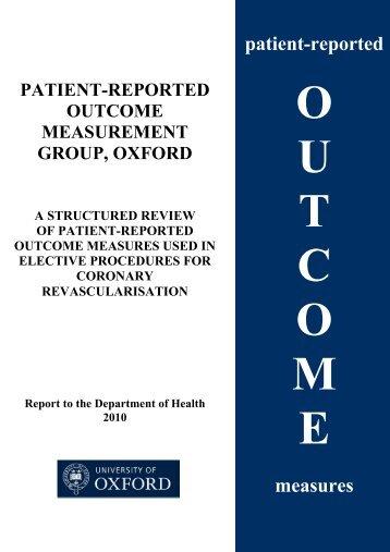 2010 review - Patient-Reported Outcomes Measurement - University ...