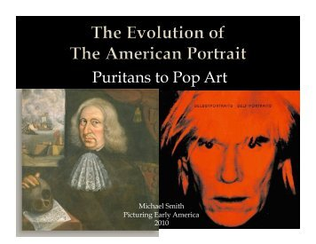 Puritans to Pop Art - Picturing Early America
