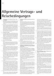Allgemeine Vertrags- und Reisebedingungen - Reisen und Kultur