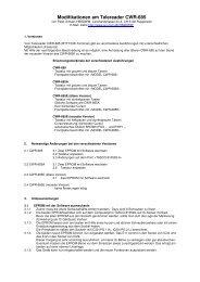 Modifikationen am Telereader CWR-685