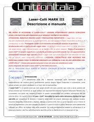 Laser-Colli MARK III Descrizione e manuale - Unitron Italia