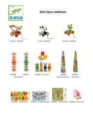 2012 Djeco Additions - Retail Specialties Home Page