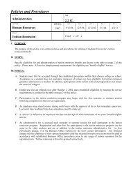 Policies and Procedures - Creighton University