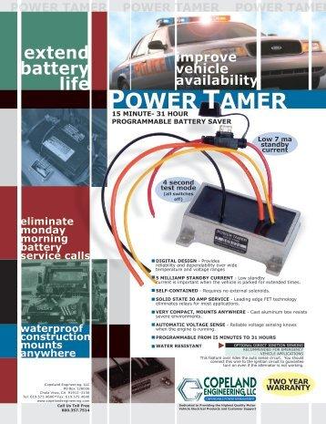 Power Tamer tech sheet - Copeland Engineering