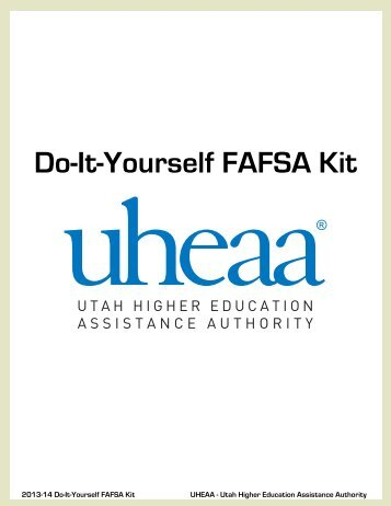 Do-It-Yourself FAFSA Kit