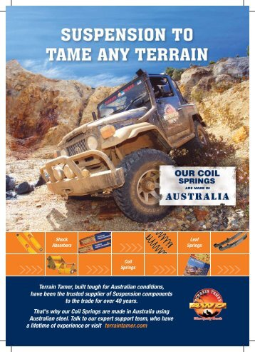 Page 1 - Suspension Catalogue cover - Terrain Tamer