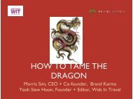 HOW TO TAME THE DRAGON - ITB Berlin Kongress