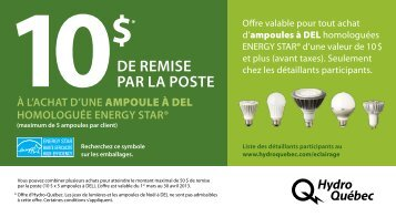 de RemiSe paR la poSte - Hydro-Québec