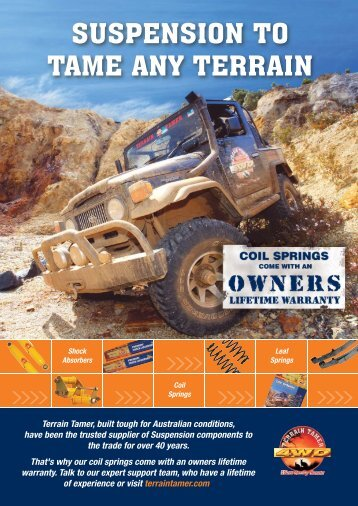 Suspension Ad with wty - Terrain Tamer