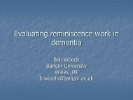 Developments in reminiscence work in the UK with people with ...