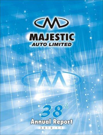 Annual Report, 2011 - Majestic Auto