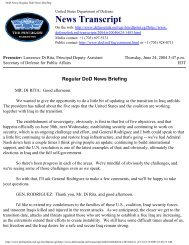 DoD News: Regular DoD News Briefing - MERLN