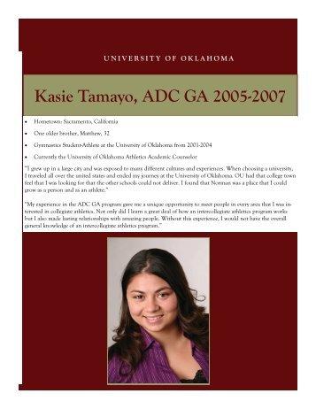 Kasie Tamayo, ADC GA 2005-2007
