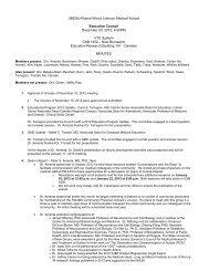 Meeting Minutes - Robert Wood Johnson Medical School