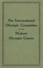 Olympic Charter 1933 - International Olympic Committee