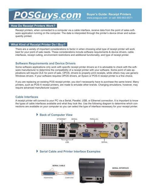 Buyer's Guide: Receipt Printers How Do Receipt Printers Work