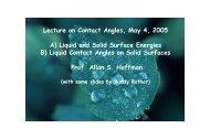 Contact Angle Lecture - UWEB