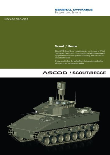 ASCOD Scout/Recce - GENERAL DYNAMICS - European Land ...