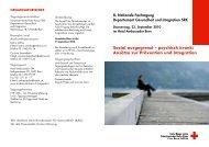 sozial ausgegrenzt – psychisch krank - Schweizerisches Rotes Kreuz